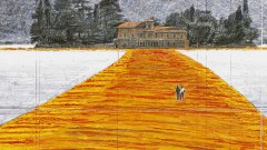 uno dei disegni di Cristo per The Floating Piers